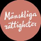 Logotyp med texten mänskliga rättigheter.